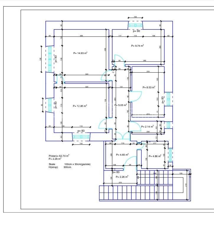 3 rooms, Apartment, 67m², 2 Floor